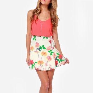 BB Dakota Goodwin Floral Print Skater Skirt